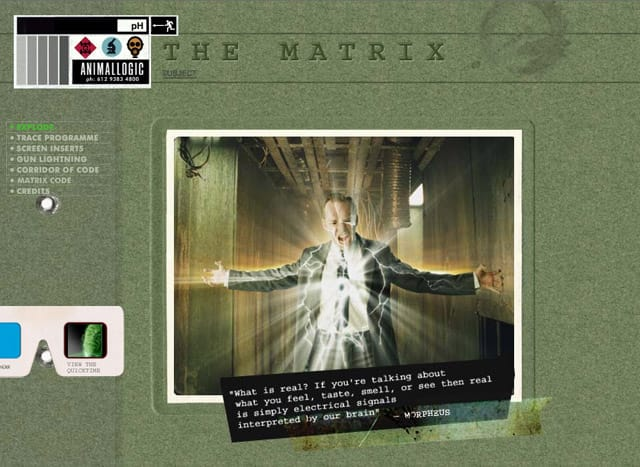 Animal Logic Film Section showing The Matrix